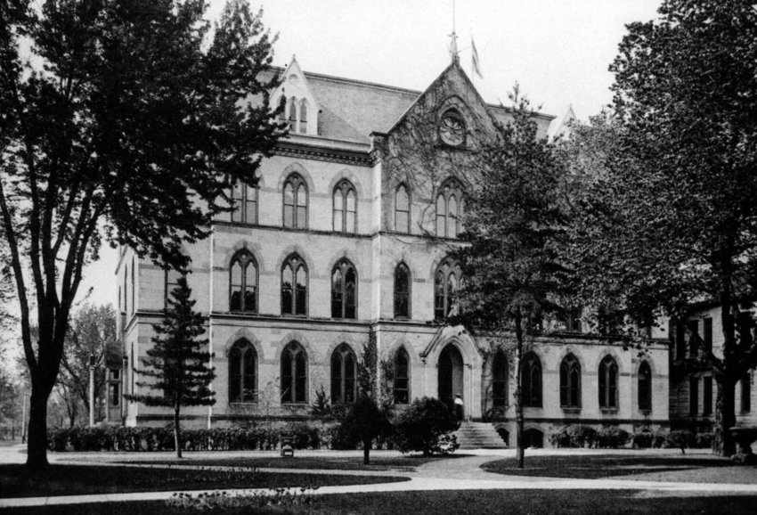 A part of the University of Central Missouri's 150-year history, Old Main, located at the quadrangle, was one of four buildings destroyed in a massive fire on campus in 1915. One of the sesquicentennial events this spring will showcase campus structures from the past.