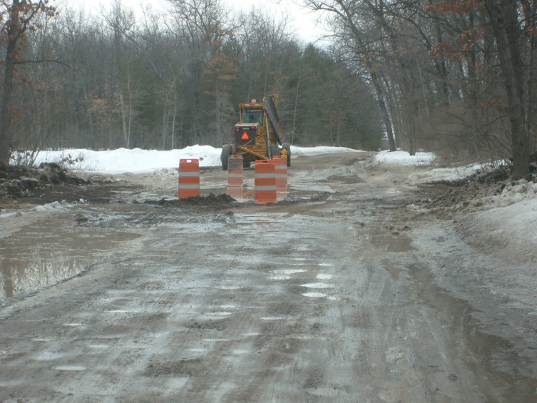 More work being done on Deep River Road by the Arenac County Road Commission.