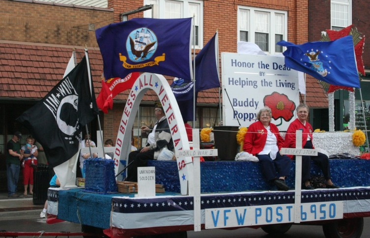 Veterans of Foreign Wars Post #6950 was one of many veterans' groups to participate in the Loyalty Day Parade.