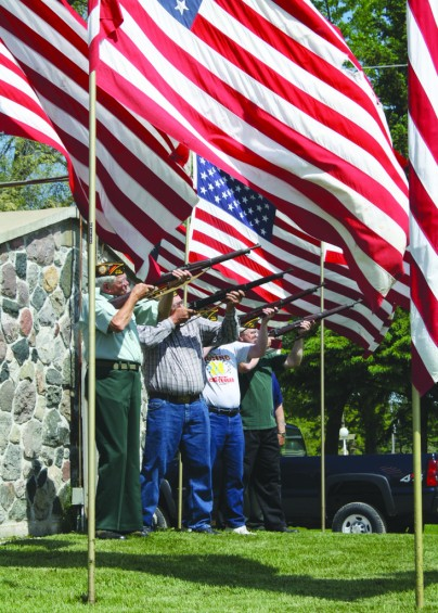 A firing squad helped honor veterans at Rose City's Memorial Day service May 29.