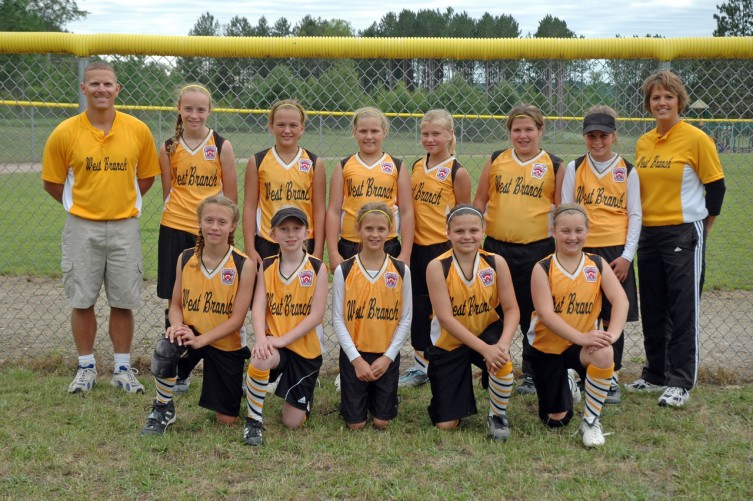 West Branch 9 & 10 year old softball all-stars
