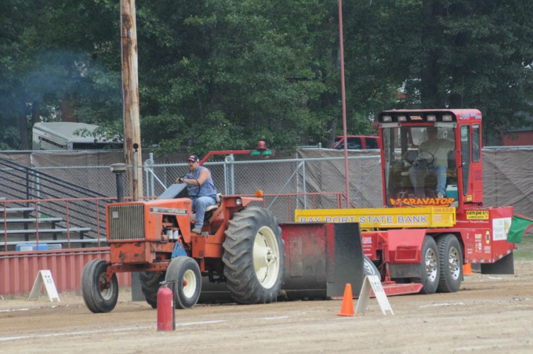The tractor pulls kicked off the action at the fair on Sunday.