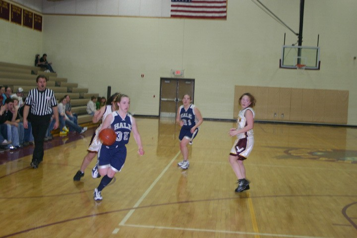 Hale's Halley Wolkens (30) drives toward the basket against Fairview on Feb. 4.