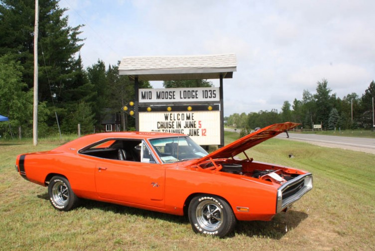A 1970 Dodge Charger R/T owned by Bob and Priscilla Matterson of Mio.