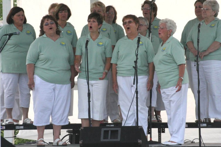 The Sweet Harmonies of Sweet Adeline's vocal group sings at the Gazebo at the Depot during the 2010 Summerfest on Thursday. The Summerfest continues every Thursday through rest of the summer.