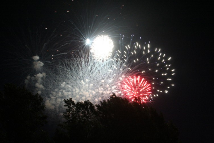 The Arenac County Fireworks returned to the skies in 2010 after a one year hiatus. Hundreds showed up to watch the fireworks light up the sky on Sunday at the AuGres River Public Access Boat Launch.