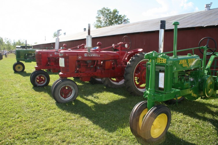 Antique tractors were available for people to look at while at the fair.