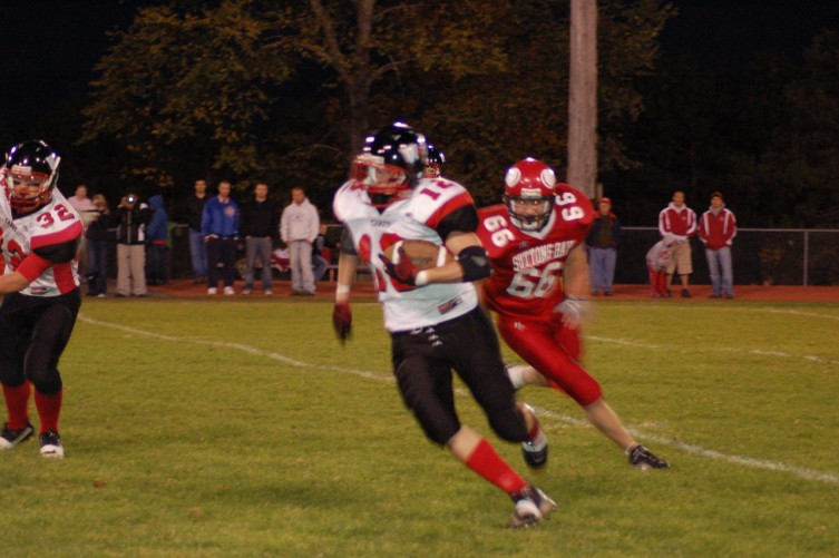 Cody Foreman Takes the Ball Down Field