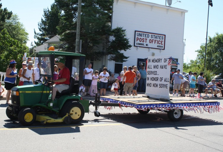 This float honors the men and women, past and present, of the United States military.