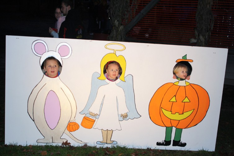 Hayden Masters, 6; Alecksa Masters, 5; and Novalee Masters, 2, all of Mio, strike a pose at the fairgrounds.