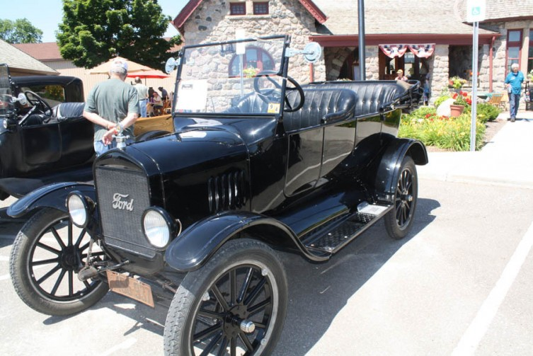 One of the vintage Ford vehicles on display at the Standish depot's vintage car show.