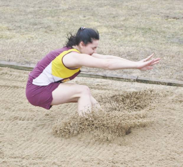 Fairview's Johnna Wiedbrauk competes in the long jump April 9.