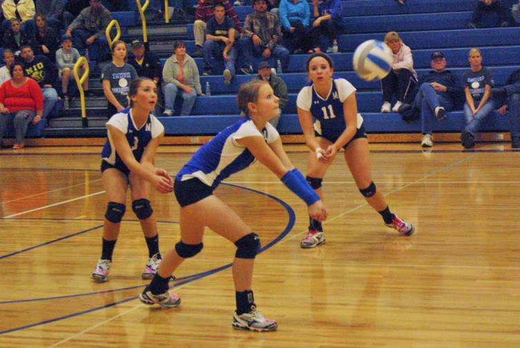Mio's Leslie Asman hits a ball against Hale Oct. 28.