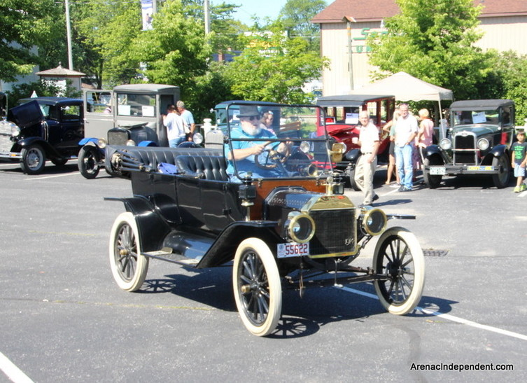 Bud DeLong of Wheeler parks his 1914 Model T during the 2017 event.