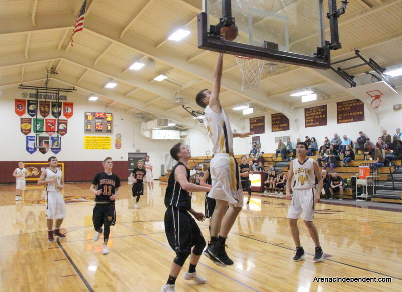 Trent Jantzi of AGS goes up for a layup.