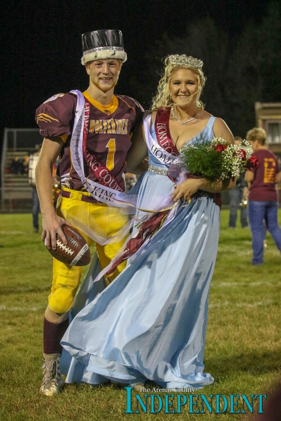 Zander Forton and Lauren Hill were crowned Au Gres-Sims' 2018 homecoming king and queen.