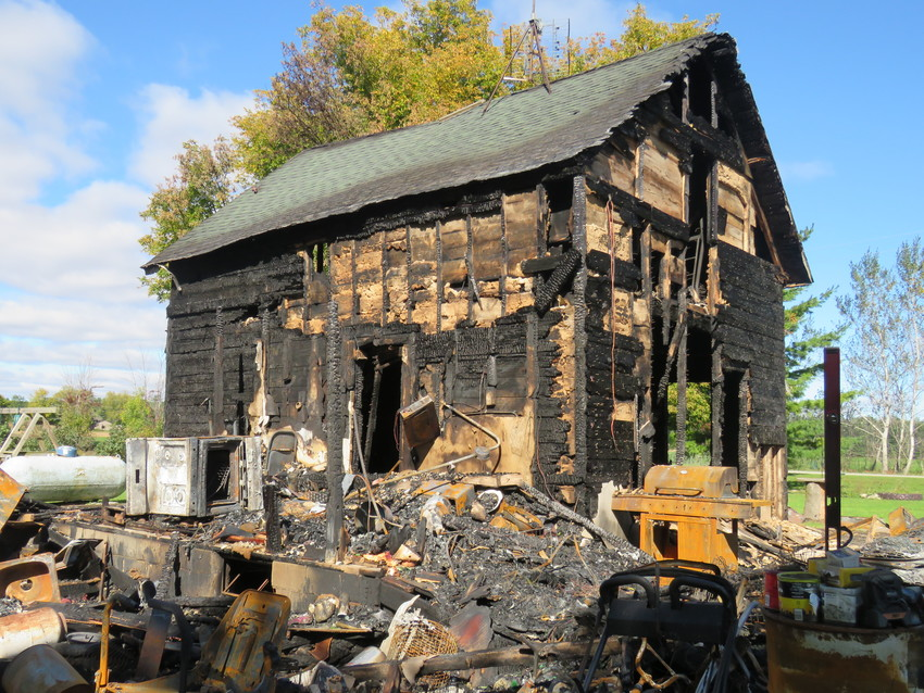 Homeowner Cory Ellison grew up in the burnt house pictured here, which had been in his family for several generations.