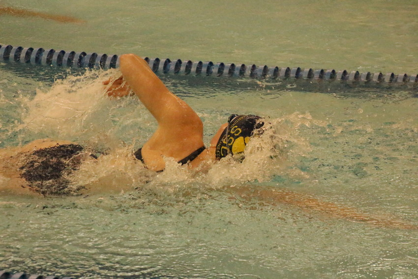 Savanna Kurchak competes in the 100 freestyle.