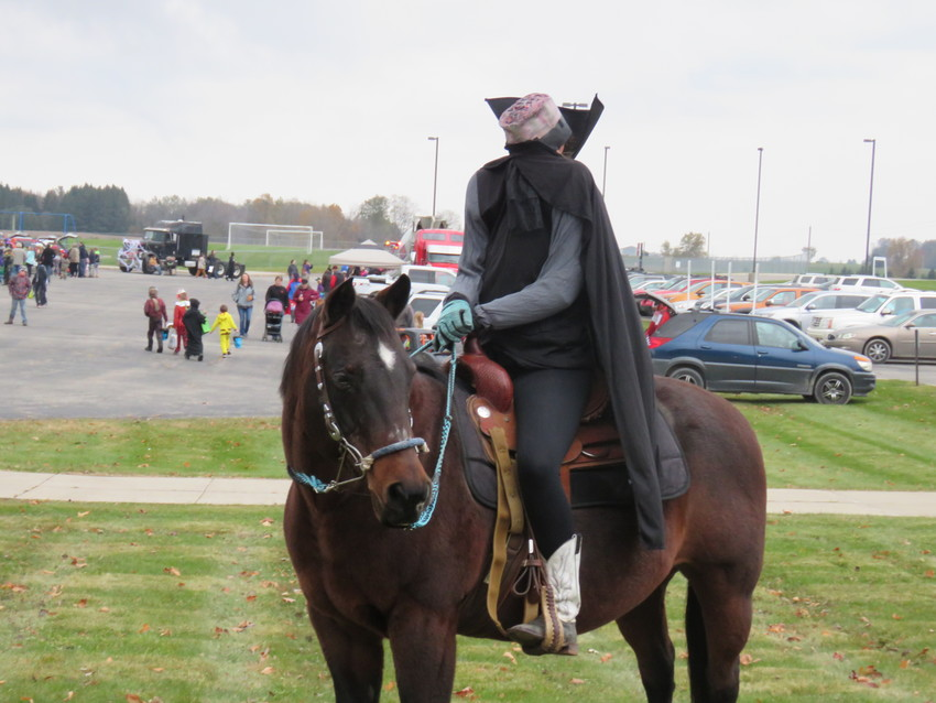 A headless horseman greeted those attending the trunk or treat.