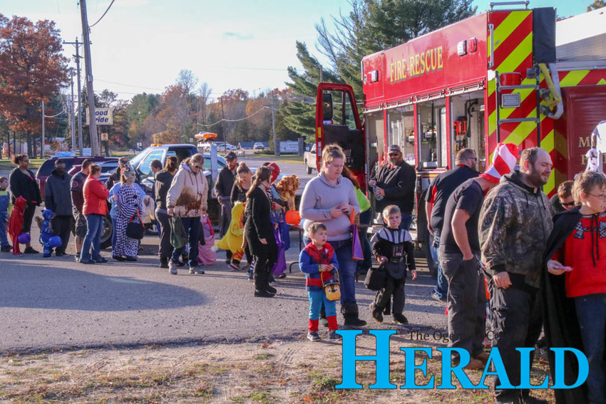 Families line up for the annual Skidway Lake Trunk or Treat event Oct. 31.