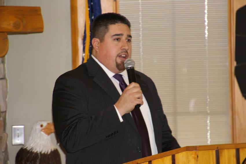 Interim Public Relations Director Erik Rodriguez hosted the semi-annual distribution.