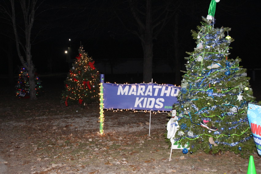 The tree pictured above was decorated by the AGS Nike Marathon Kid Runners club.