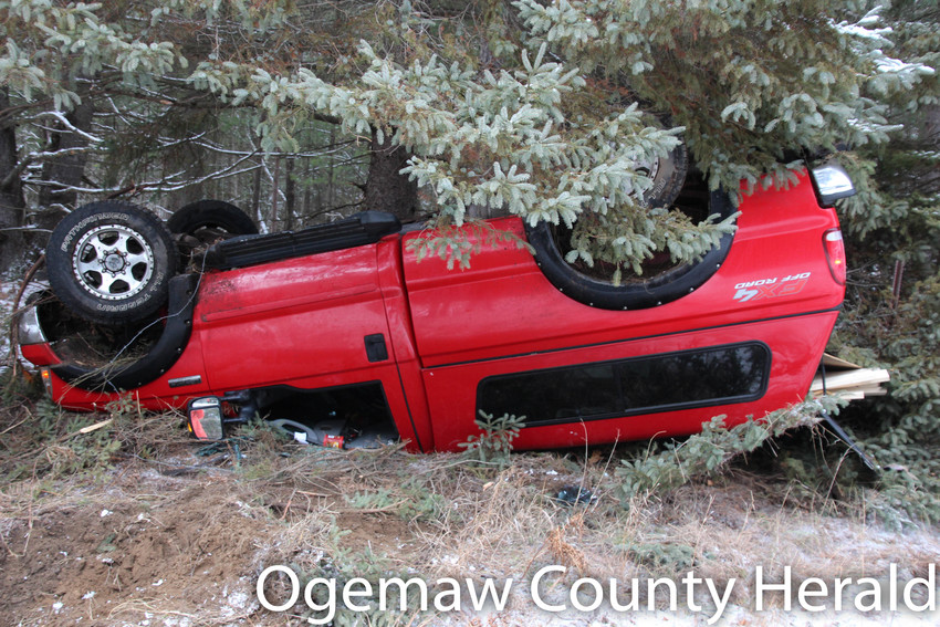 Speed and icy road conditions caused a 70-year-old man from Hale to crash into a tree on Christmas Eve.