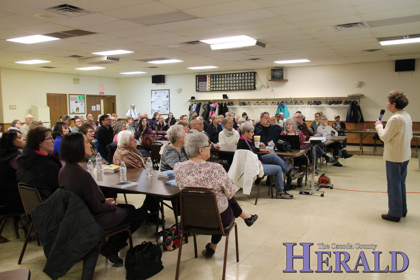 Holocaust Survivor Irene Miller spoke about life during World War II at the Knights of Columbus Post 7329 in Mio Saturday, March 9.