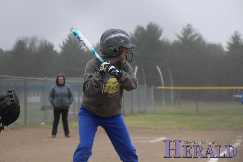 May-Lynn Brown prepares to swing at a Hillman pitch.