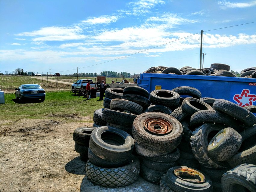 Last year's cleanup saw the collection of more than 600 car tires, 70 yards' worth of trash and 20 yards of scrap iron.