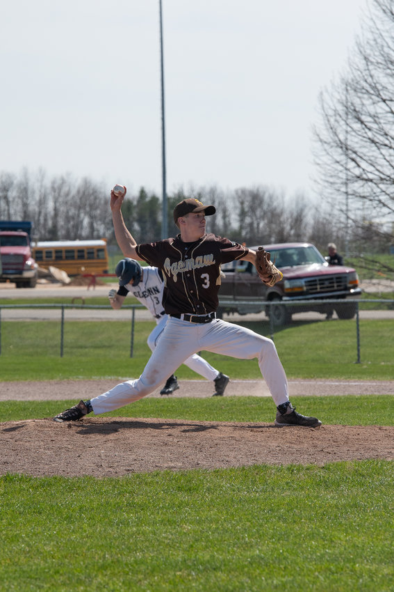 Calvin Beck starts on the mound for the Falcons.