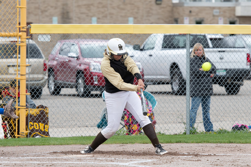Ashlyn Dantzer connects for a double for the Falcons.