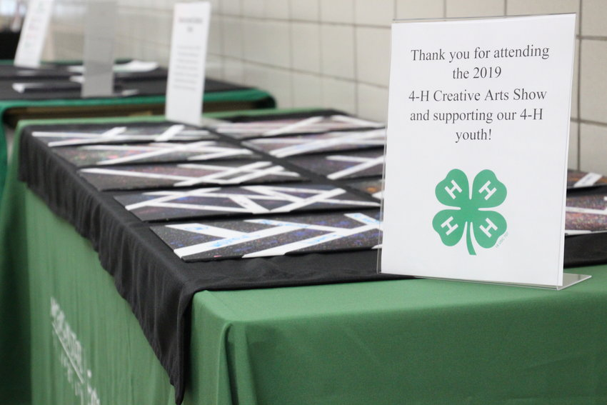 The lower floor of the county building will be lined with art pieces made by local members of 4-H Special Interest Clubs.