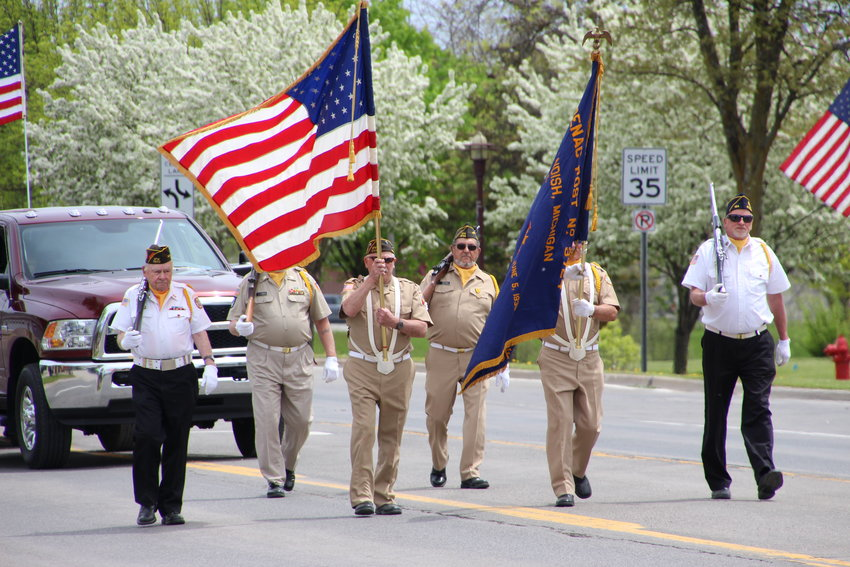 Arenac County veterans led the way as the parade made its way through town.
