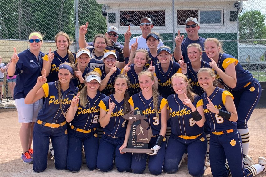 The Lady Panthers pose for a photo after winning the regional title.