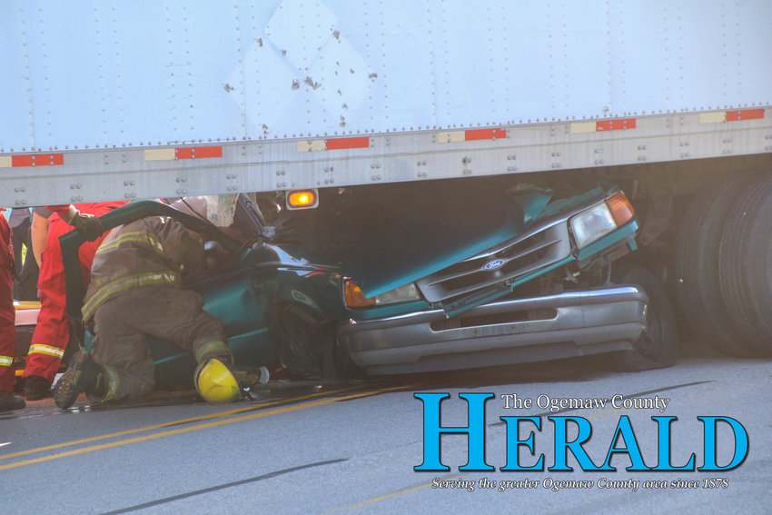 Police say a 17-year-old is lucky to be alive after his vehicle collided with a semi-trailer June 26.