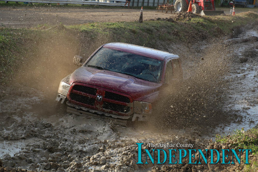 Robby Goretcki gives the mud pits a try.