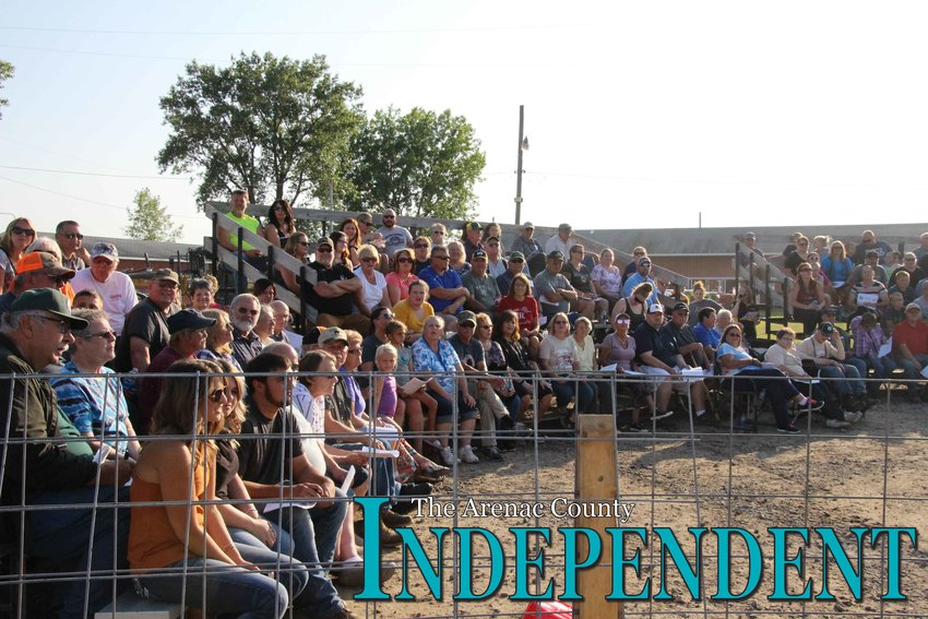 The stands were packed for the auction Thursday, Aug. 1.