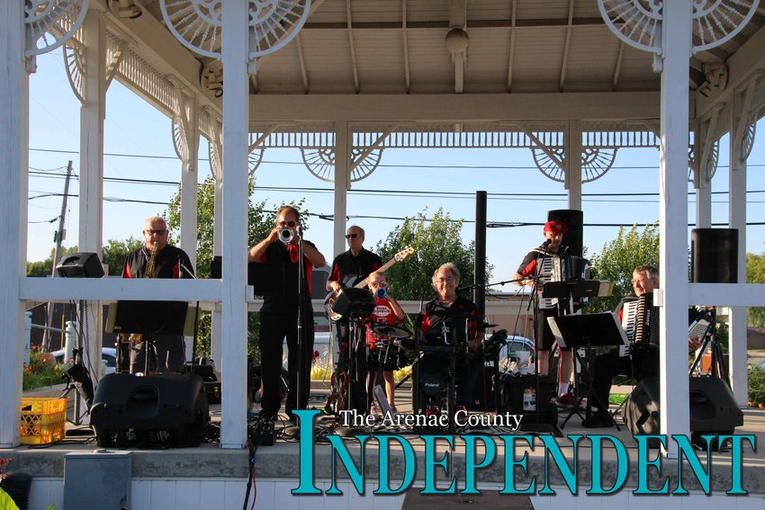 The band performs for the crowd in Standish Aug. 8.
