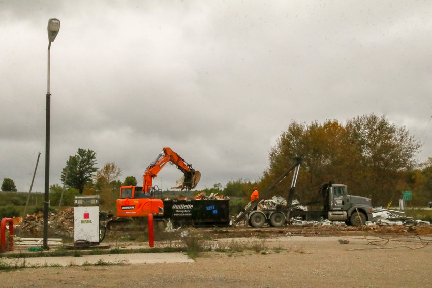 The old Citgo gas station was demolished earlier the week of Sept. 29. Workers were still at the site Oct. 4.