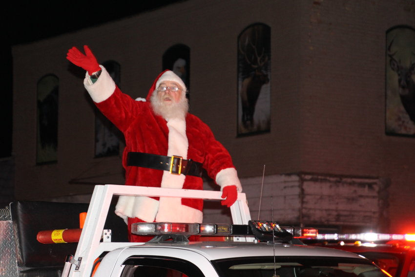 Santa rides into Standish at last years parade.