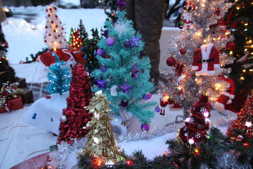 A Christmas tree dedicated to suicide awareness decorated by Jan Thompason and featured on the Prince of Peace Lutheran Church float.