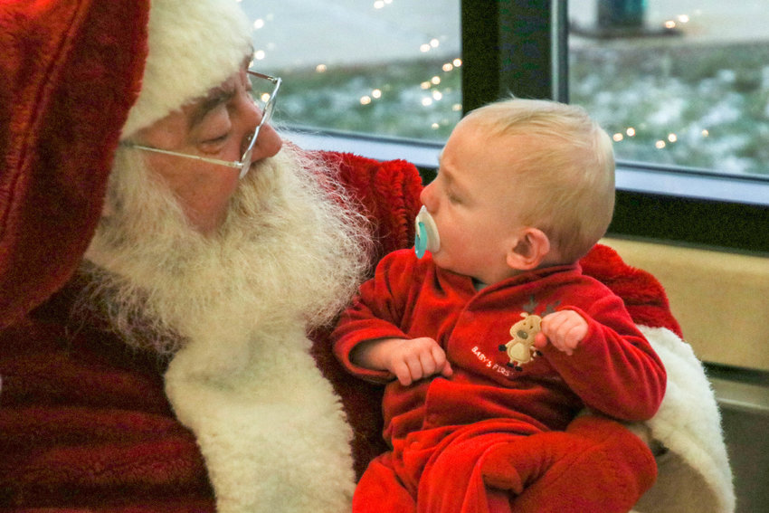 Zuma Parsons first visit with Santa at last years event.