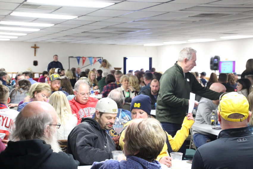 The K of C Hall in Au Gres was packed with teams ready to put their trivia skills to the test at the 2019 trivia night.