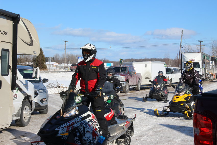 The warriors arrive at at T&C Sports Lounge in Au Gres during last year's ride.