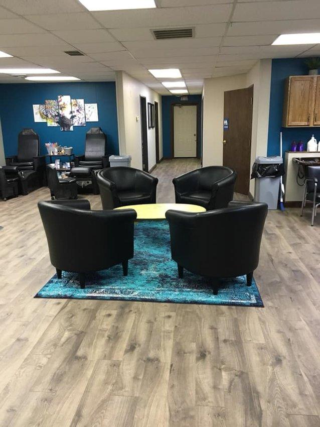 The newly renovated inside of Main Street Salon.
