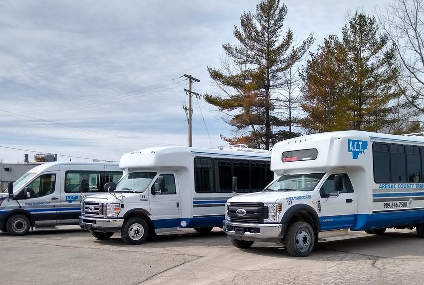 Arenac Transit has five brand new buses/vans.