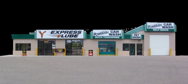 Look for the Y Express Lube and Wash at the junction of Hwy. 1 and 169 and Cty. Rd. 77.