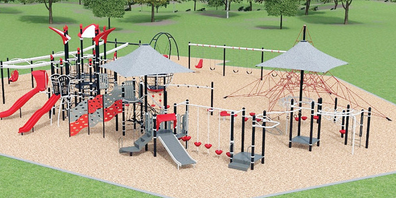 An artist's rendering of the proposed new playground at the Ely elementary.