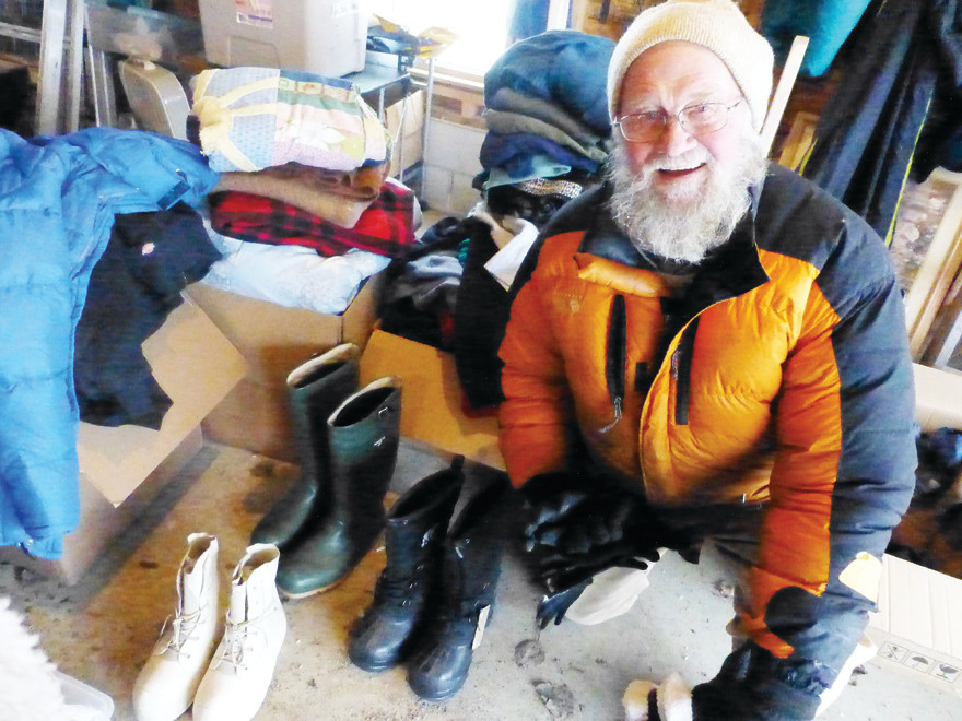 Kim McCluskey, of Ely, drove a truckload of donated boots and   cold-weather gear to the Standing Rock camp in North Dakota.